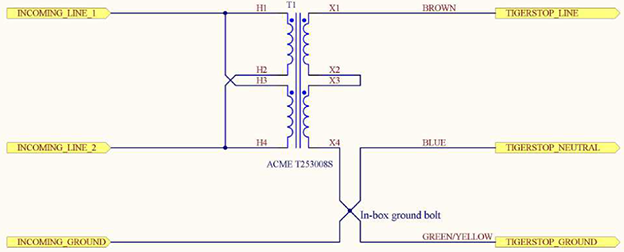 Isolation Transformer Sample Wiring Diagram