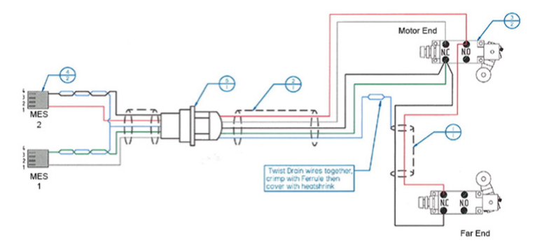 TT-HD2-TR limit switch wire diagram
