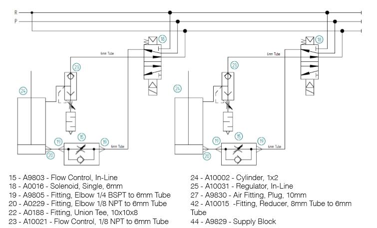 side clamps flow diagram