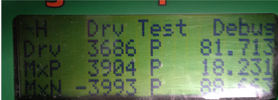 Drive test screen