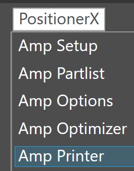Amp printer setting image